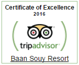 Baan Souy Resort Tripadvisor Certificate of Excellence 2016